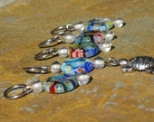 Blue Turtle Beaded Stitch Markers