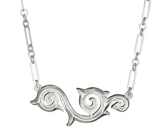 Large Swirl Tattoo Inspired Necklace TN2