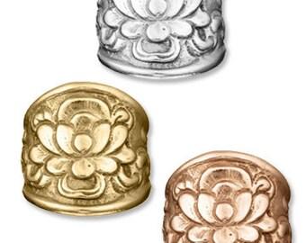 LOTUS Flower Ring recycled sterling, Lotus ring, yoga jewelry, yoga gift, Lotus flower FREE SHIPPING!