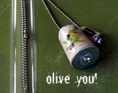 OLIVE YOU Cork Necklace for Valentines Day UNCORKED In Test Tube