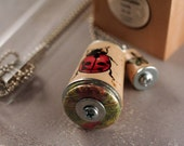 Ladybug Necklace - Sustainable Cork Jewelry - Recycled by Uncorked - Test Tube Jewelry