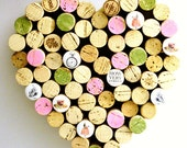 Heart Shaped Cork Board, Alice in Wonderland Decor, Wine Cork Art, Pink, Green, Art for Office, Recycled Memo Board, Office Decor, Corkboard