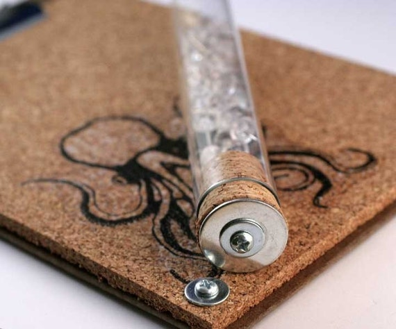 Mini CorkBoard OCTOPUS LOVER Uncorked With Test Tube