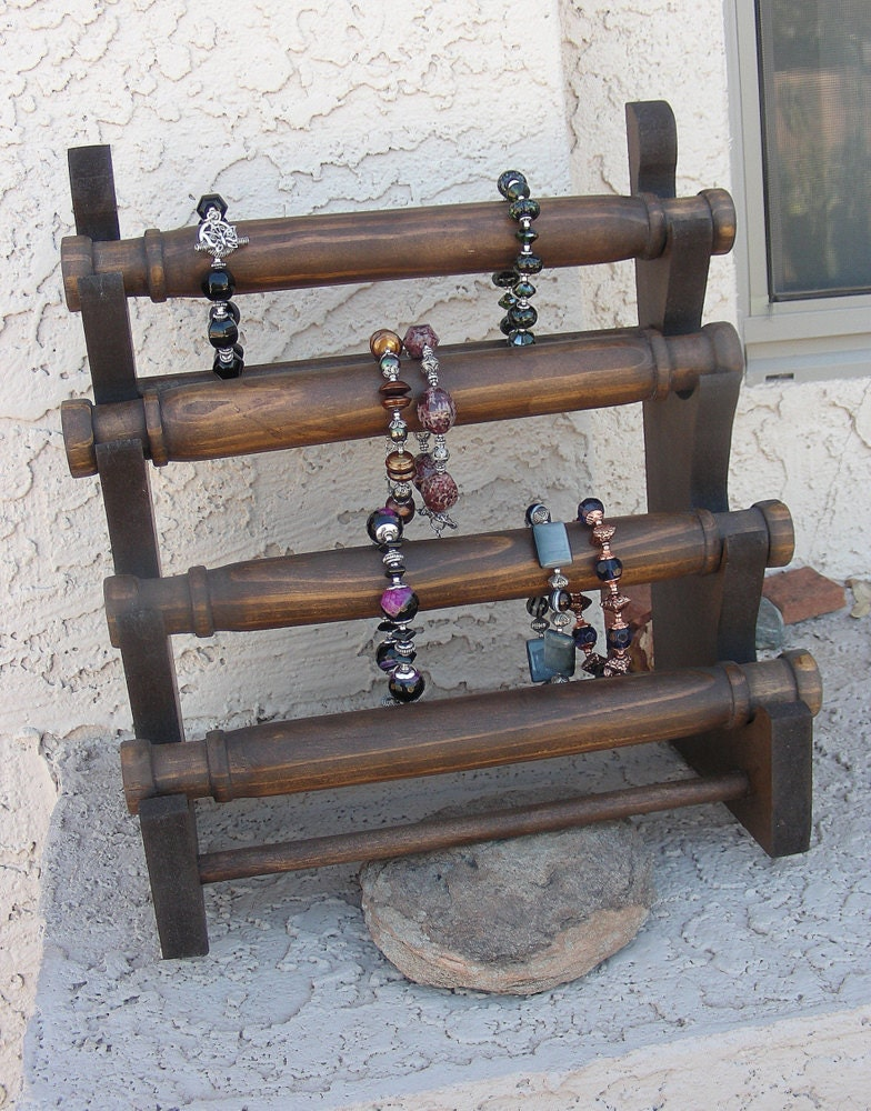 Exhibition Stand Wood : Jewelry display bracelet stand wooden store craft show
