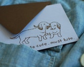 Love Bite Dachshund Card