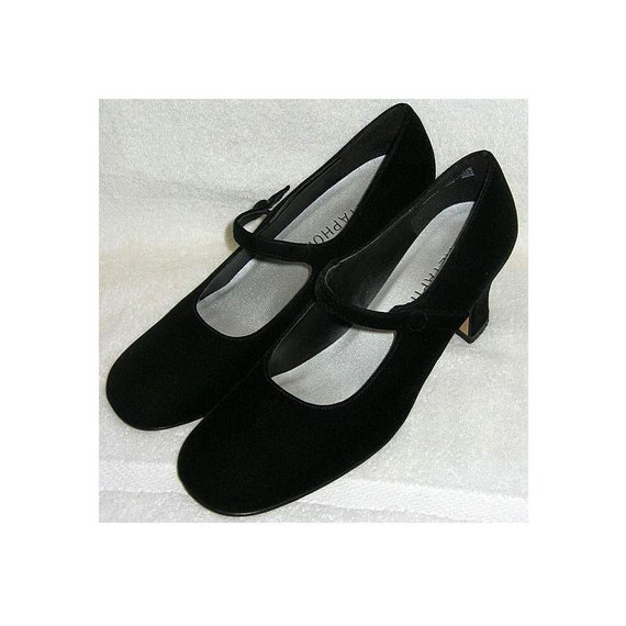 Vintage Mary Jane Shoes Jodi by Metaphor Black Velvet