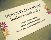 RESERVED custom business cards for fuzzybearears ONLY