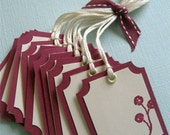 SET of 10 pomegranate berry tags
