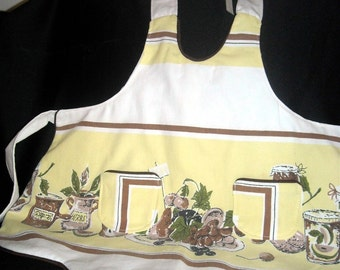 Girl's Apron made from Vintage Cotton Tablecloth