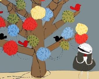 Decorating the Tree - PRINT - Various sizes