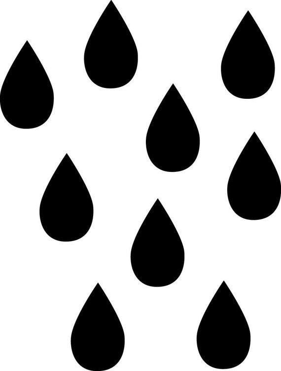 2 sets Raindrop Wall Decals reserved listing