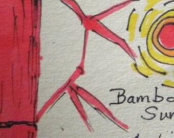 Bamboo Sun ACEO