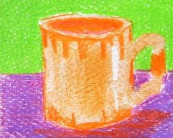 Orange Mug ACEO