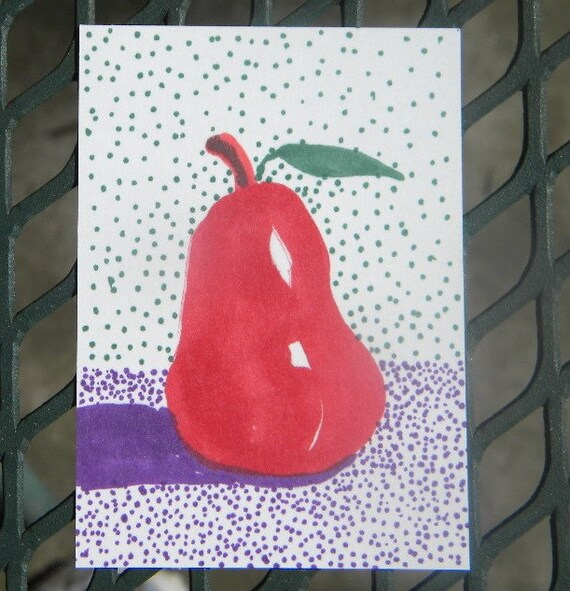 Red Pear ACEO