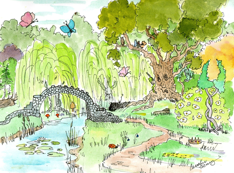 enchanted forest dragon original - photo #17