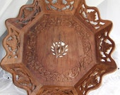 Wood Carved Bowl India