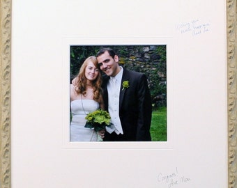 Signature Mat  for Wedding / Event  - Guest Book - FREE PEN