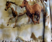Horses Fleece Blanket