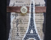 eiffel tower,  french, paris, aceo, trading card