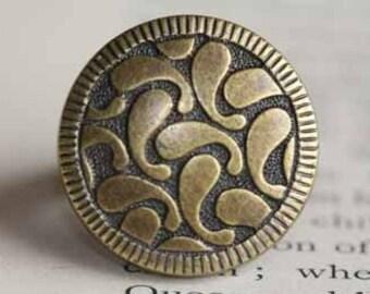 Brass Swirl Ring