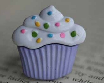 Cupcake With Sprinkles Adjustable Ring