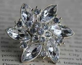 Rhinestone Snowflake Faux Diamond Ring