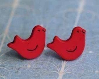 Bye Bye Birdie Stud Post Earrings