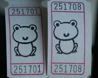 Vintage Style Hand Stamped Hippity Hoppity Froggie Carnival Tickets