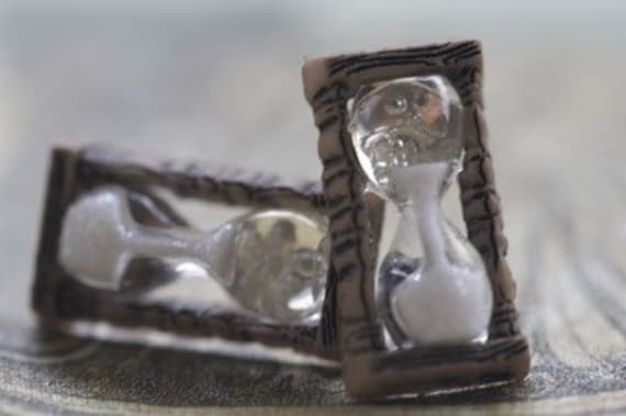 Sands Of Time Hourglass Stud Post Earrings