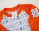 Toddler Shirt Raglan Boys Rock Guitars Size 3T