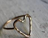 Handmade to Order- 14K Gold fill Heart Ring by Rachel Pfeffer