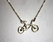 SALE Le Very Petit  Sterling Silver Bike Necklace
