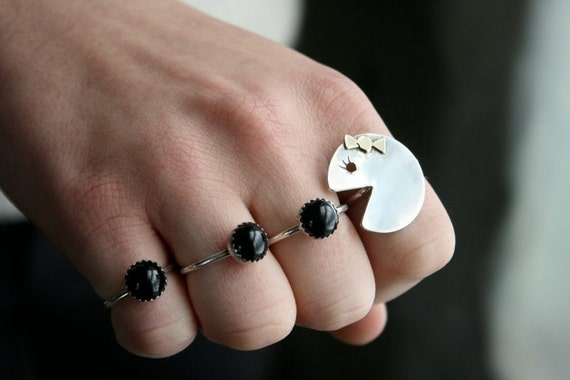 Ms. Pacman-esque with Black Onyx Ring Set