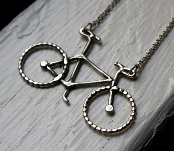 Le Petit Bike Necklace by Rachel Pfeffer