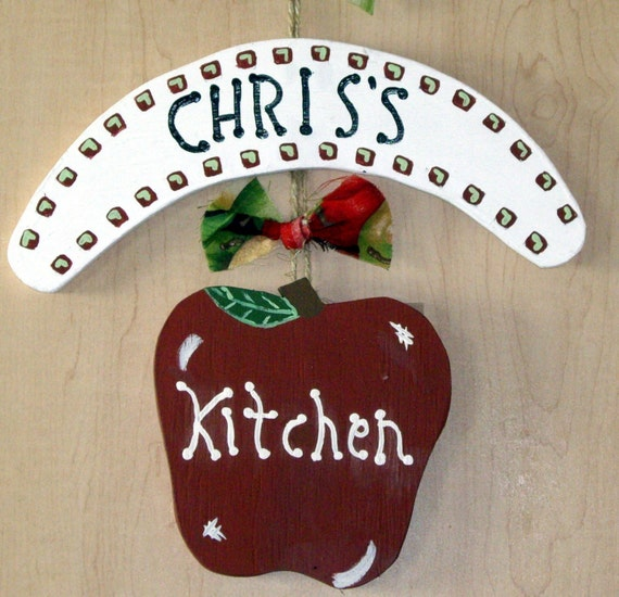 Personalized Apple Kitchen Sign