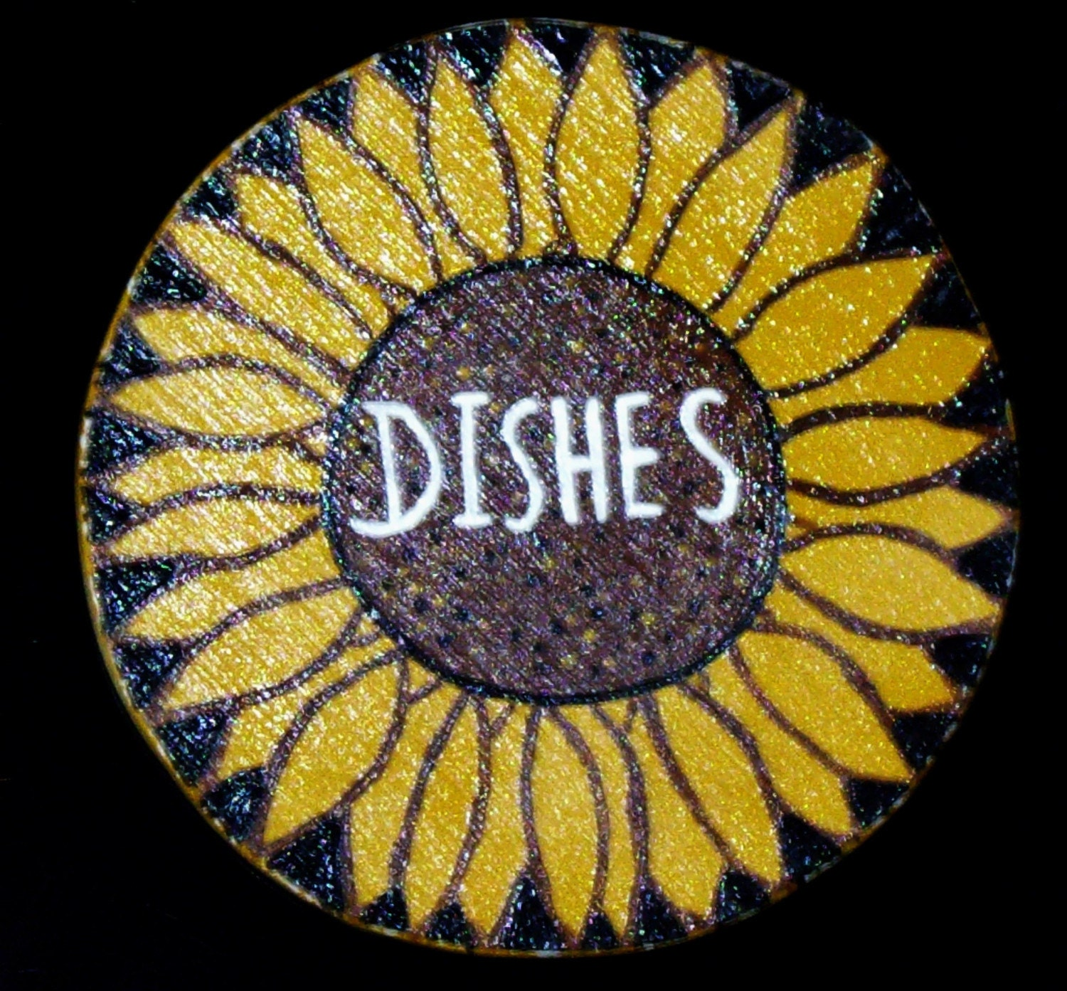 Dishwasher Clean Dirty Flip Sign Collage Butterflies handmade
