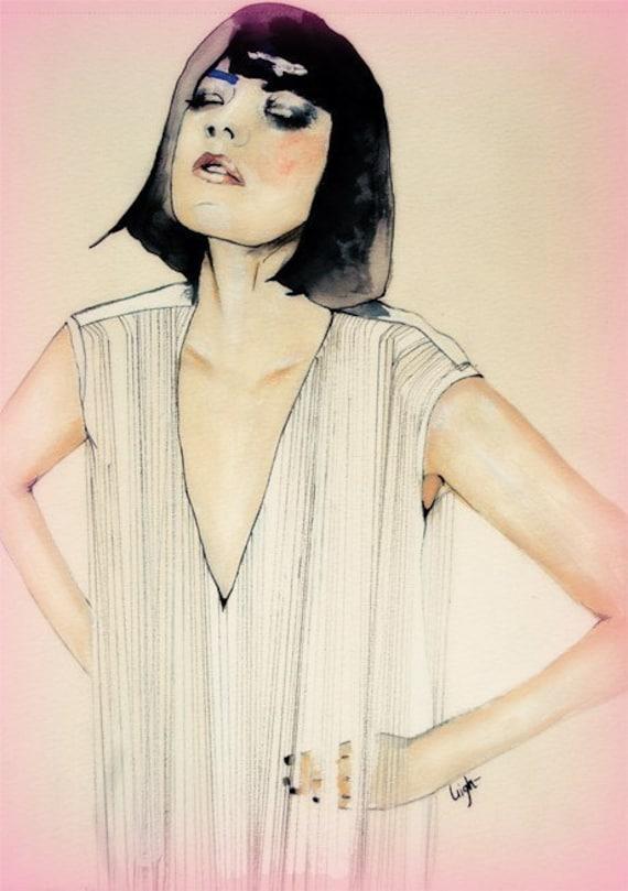 FaceHunter series 13 - Fashion Illustration Art Print // Limited Edition