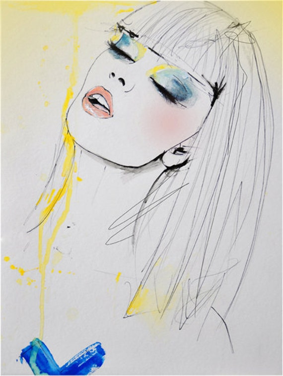 Marianne - Fashion Illustration Art Print