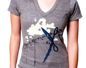 2X SNIP V-neck Shirt ..... Women's 2X tee