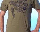 Sea Turtle Shirt - Tattoo Shirt - Men's Graphic Tee - Sea Turtle Art - Polynesian Tattoo Art - Men's Tshirt