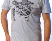 On SALE Tattoo Shirt - Men's Graphic Tee - Sea Turtle Shirt - Sale Shirt - Polynesian Tattoo - Sea Turtle Art