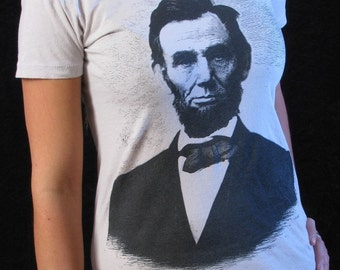 Women's T-shirt - Abraham Lincoln Shirt - American History - History Buff Shirt - Civil War - Abe Lincoln