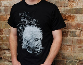 Albert Einstein T-Shirt - Men's Einstein Shirt - Physics Shirt - Physics Gift - Science Gift - Science Shirt