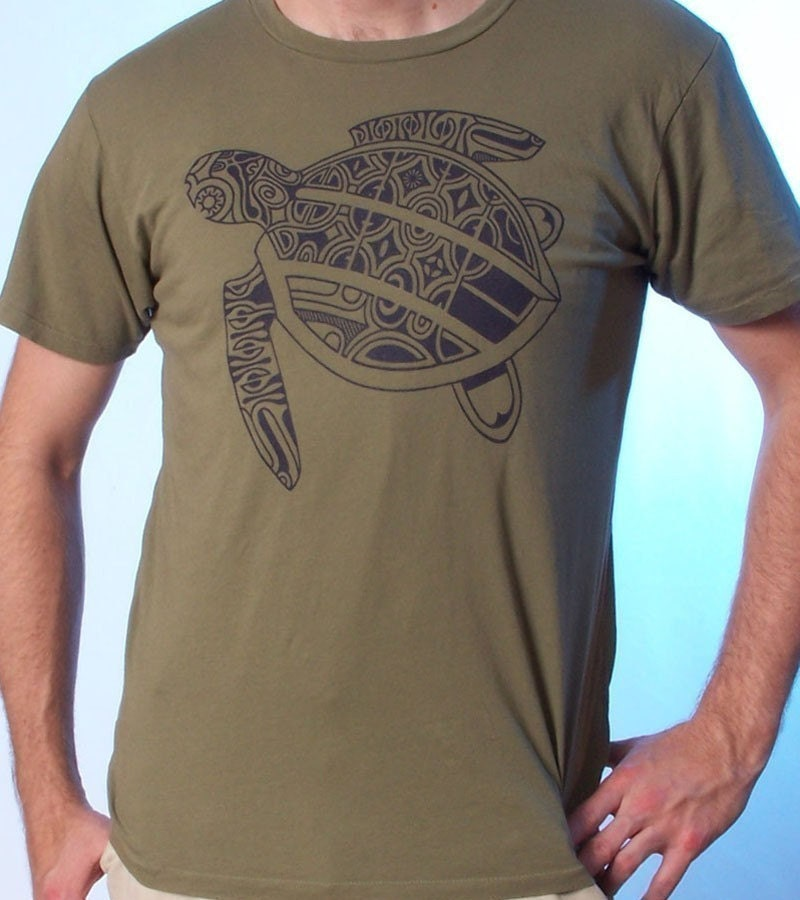 Sea turtle shirt tattoo shirt men 39 s graphic tee sea for Turtle shirts for men