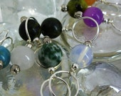 US 11 (8.00mm) Multi Stone Beaded Stitch Markers
