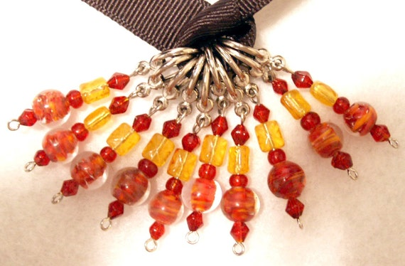 US10 - Cayenne Pepper Beaded Stitch Markers