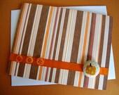 Autumn Wishes Greeting Card with Pumpkin Brad Embellishment - White