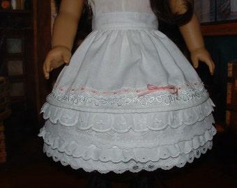 """Petticoat 18"""" doll Civil War Era Corded Petticoat 1850s pre-crinoline Made to Order"""