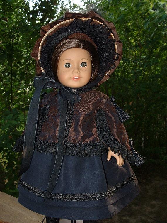 American Girl doll 1800s Elegant Mantle and Bonnet Reserved Nancy S.