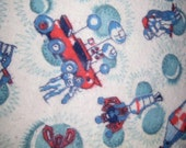1960's Atomic Sputnik Space Man flanel fabric